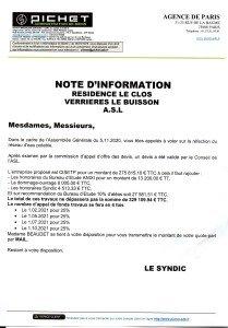 Information financement  travaux canalisation 001